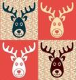 Reindeer faces vector image