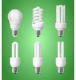 Set of energy saving light bulbs vector image