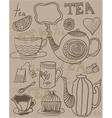 tea wallpaper vector image