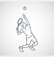 tennis logo icon vector image