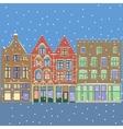 Urban Winter Christmas landscape vector image
