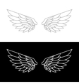 Wing Icon Set vector image