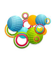 colorful abstract rings and circles vector image
