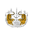 Thai traditional painting tattoo tiger vector image