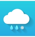 Day cloud snow flake and rain drops isolated on vector image vector image