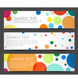 Simple colorful horizontal banners vector image vector image