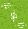 Happy St Patricks Day seamless pattern vector image