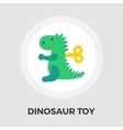 Dinosaurus flat icon vector image vector image