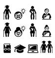 University of the Third Age Senior education icon vector image