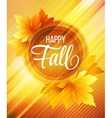 Autumn poster background vector image