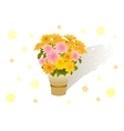 Bouquet of asters vector image