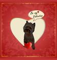 Cairn Valentine vector image