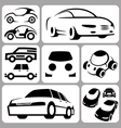 car icons set vector image