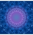 Circular ornament in blue tones vector image