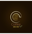 coffee cup concept menu design vector image