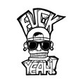 hip hop face vector image