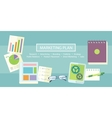 Marketing Plan Concept vector image