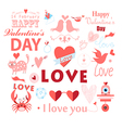 set with a love vector image
