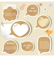 Speech bubbles scrapbook elements vector image
