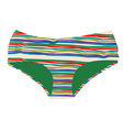 striped woman underwear vector image