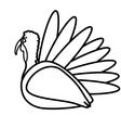 turkey bird thanksgiving icon vector image