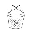 easter basket icon vector image