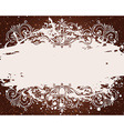 grunge background for text decor with ornament and vector image vector image