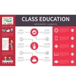 Class Education infographic flat vector image