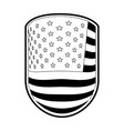 emblem with flag united states of america in vector image