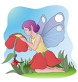 flower fairy vector image