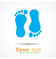 Foot imprint background vector image