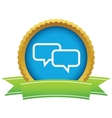 Gold conversation logo vector image