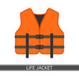 life jacket isolated vector image
