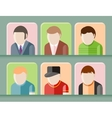 Man avatars characters vector image