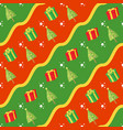 seamless christmas gift pattern vector image