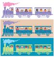 Steam Train Driver vector image