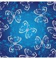 Seamless dark blue christmas luxurious pattern vector image vector image