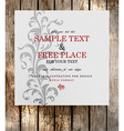 Wooden Invitation Background vector image