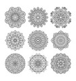 meditation pattern of indian vector image