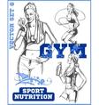 Fitness girls - set vector image