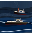 01 Ship sea vector image