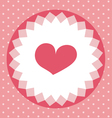 cute heart card vector image vector image