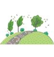 Landscape background Children vector image
