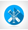 Blue circle icon for injection vector image
