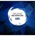 Grunge blue background with splash banner vector image