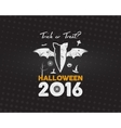 Happy Halloween 2016 Poster Trick or treat vector image