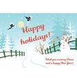 Happy holidays card vector image