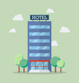 hotel building in flat style vector image