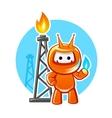 Natural Gas Industry Mascot vector image