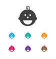 of child symbol on son icon vector image